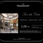 Champagne toast at the JLC NYC Boutique on January 16th