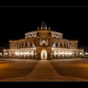 Semperoper Dresden (Dresden opera house) at night by EDWIN HEUSINKVELD