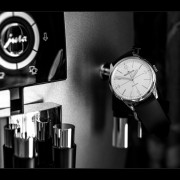Jaeger-LeCoultre Geophysic & espresso machine by EDWIN HEUSINKVELD