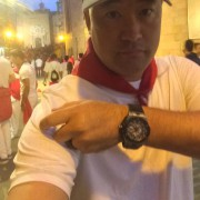 Craziest. Wrist Shot. Ever.  Running with the bulls in Pamplona with a Hublot Unico Ferrari