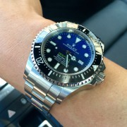 I happen to love the Rolex Deepsea Sea-Dweller D-Blue
