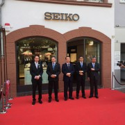 At the Seiko Boutique Opening in Frankfurt by ALEX BROWNLEE-STOKES