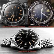 Vintage patina delight:  Jaeger-LeCoultre Polaris, Rolex 5513 & Omega SM300