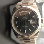 It is here: Rolex Day-Date 40 with dark grey stripe dial by EVAN