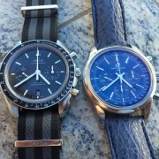 A Pictorial Tale of 2 Chronos: Omega Speedmaster 9300 & Breitling Transocean