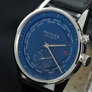 Live pics: NOMOS Zurich Weltzeit True Blue with in-house caliber 5201
