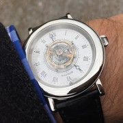 A much-anticipated – arrival the Haldimann H1 Flying Central Tourbillon