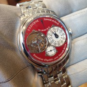 And here she is: red dial FP Journe Tourbillon Souverain