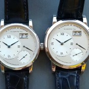 "Comparison: A. Lange & Söhne Lange 1 and its ""Little Lange 1″ sibling by CR"
