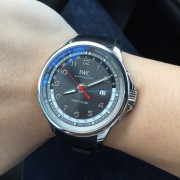 After a month of anxiously waiting, the IWC Portugieser Yacht Club World Timer is finally here