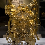 "John Harrison marine chronometer ""Ships, Clocks & Stars"" exhibit at Mystic Seaport Museum CT"