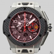 Close up shots of the Hublot Ferrari Big Bang taken over the weekend