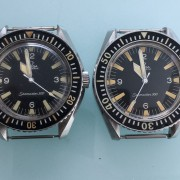 Side by side differences of the Omega Seamaster 300 HF vs. CB case and bezel