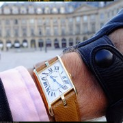 Sunday morning with the Cartier Tank Asymétrique