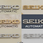 "Changes to the ""Seiko"" logo on Grand Seikos over time"