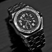More Audemars Piguet Royal Oak Offshore Scuba 15701ST –  A few black & white shots out in the rain this morning