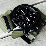 Blancpain Bathyscaphe ceramic chronograph on green NATO