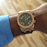 From cutting edge to a worthy modification – Audemars Piguet ROO rubberclad to rose bezel