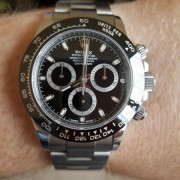 Here's the Rolex Daytona Cerachrom 116500 on a brushed bracelet