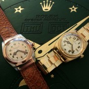"Here is my little ""family"" of vintage Rolex Bubblebacks – all with original dials"