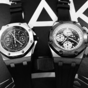 My two lovely Audemars Piguet: Ruben Barrichello II and Alinghi Polaris in monochrome