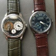 New straps on the F.P. Journe Black Label Tourbillon and Chronometre Bleu
