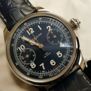 Pics of my recent acquisition: MontBlanc 1858 Tachymetre Chronograph