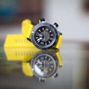 Jaeger-LeCoultre Master Compressor Navy Seals Incursion on a yellow Isofrane strap