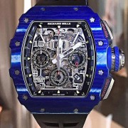 New models & versions of Richard Mille – RM011-03, RM011-03 blue quartz TPT & Yohan Blake RM059-01 green quartz TPT