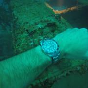 Rolex SeaDweller 4000 exploring sunken WW2 Japanese Freighter Kitzugawa Maru
