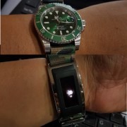 A Rolex Submariner Hulk 116610 LV and Montblanc e-strap