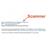 Beware of email phishing scam
