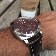 I finally pulled the trigger on a brand spanking new Panerai Luminor Marina PAM351