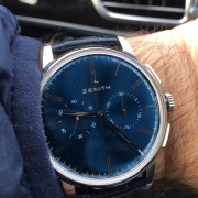 This Zenith El Primero Chronograph Classic Blue came in yesterday