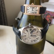 His and Hers Cartier: Tank Americaine & Drive de Cartier Second TimeZone