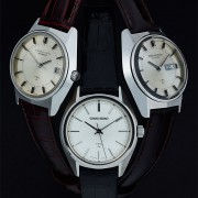Grand Seiko vintage trio: 6185-8021-G date, 6186-8000-G day-date & 4580-7010 time only