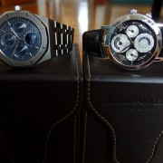Current Audemars Piguet duo: Royal Oak Perpetual & Jules Audemars Metropolis Perpetual