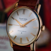The First Grand Seiko Chronometer caliber 3180  with carved dial