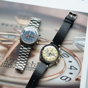 Vintage Omega duet: Seamaster Chronograph & Speedmaster with champagne dial