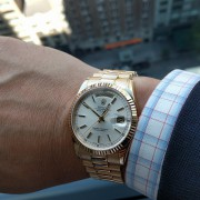 It was clear that i had to go with the Rolex Day-Date 36