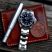 Thursday Stuff: Leather wallet, Kaweco pen, Rolex Submariner & a coin