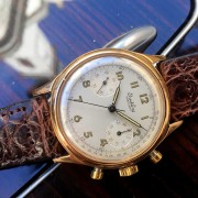 Back from vacation, a special watch was waiting for me: 1946 Breitling Premier 777