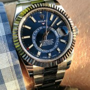 A wave hit the US last week at ADs – Rolex Sky-Dweller Blue 326934