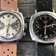 Pair of Heuer Camaro 73443s – 73443NT and a 73443 exotic dial