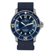 A new blue dialed non-flinqué Blancpain Fifty Fathoms?