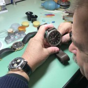 A different type of A. Lange – an all original type A B Uhr pilots watch