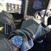 Supersonic Sub- Rolex Submariner Hulk in a USAF T-38