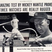 Effective advertising: 1950s vintage watch ads