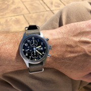 Wrist shot IWC Pilot's Watch Chronograph IW377724