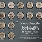 Omega Speedmaster – 50 Years In Space Signature Collection in chronological order from 1965 – 2015
